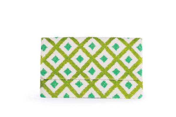 Beaded Diamond Clutch - Christina Greene LLC