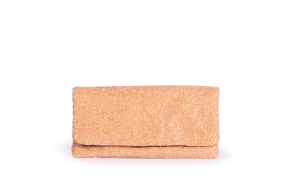Evening Beaded Blush Clutch - Christina Greene LLC