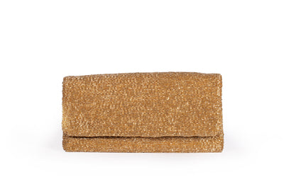 Evening Beaded Gold Clutch