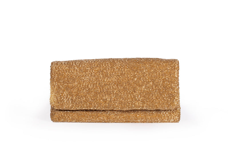 Evening Beaded Gold Clutch - Christina Greene LLC