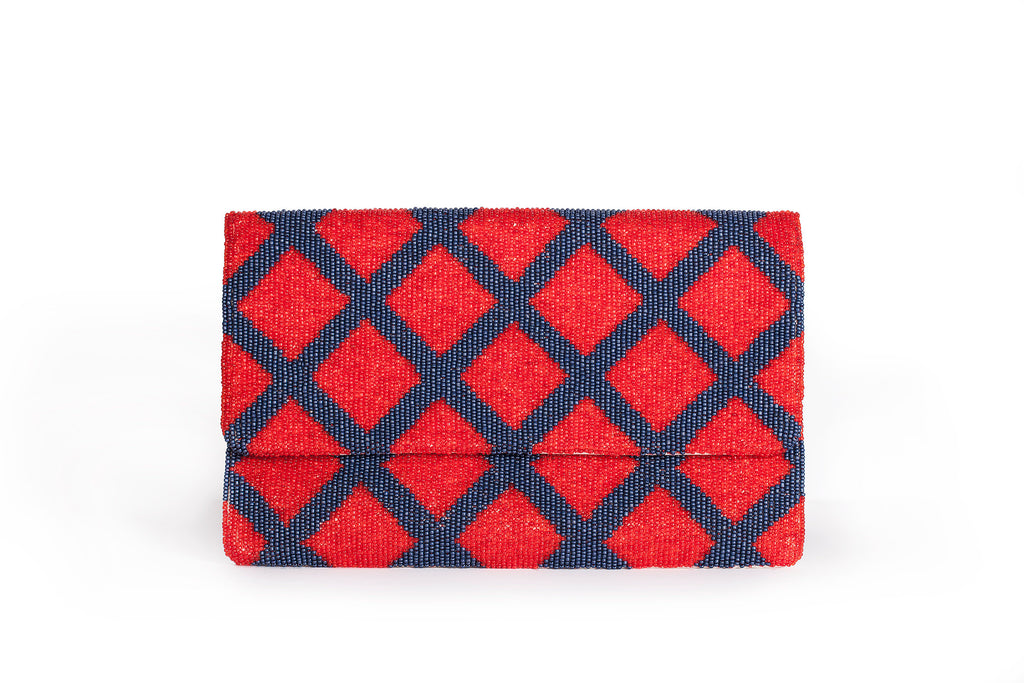 Beaded Nautical Clutch - Christina Greene LLC
