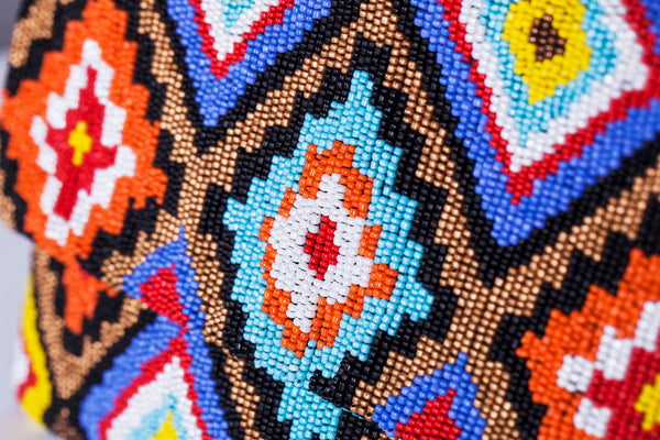 Multi- Color Beaded Bag - Christina Greene LLC