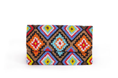 Multi- Color Beaded Bag