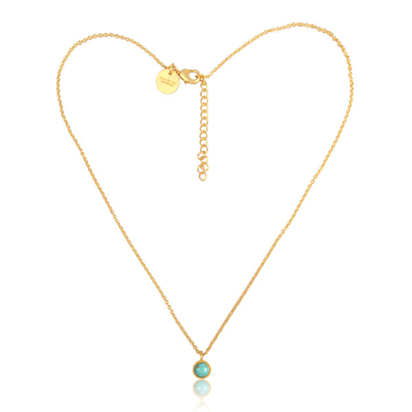 Turquoise Dainty Pendant Necklace