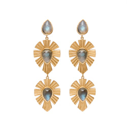 Royal Radiance Earrings - Labradorite - Christina Greene LLC