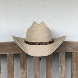Faceted Brown Stone Hat band