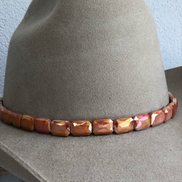 Faceted Cinnamon Hat Band - Christina Greene LLC