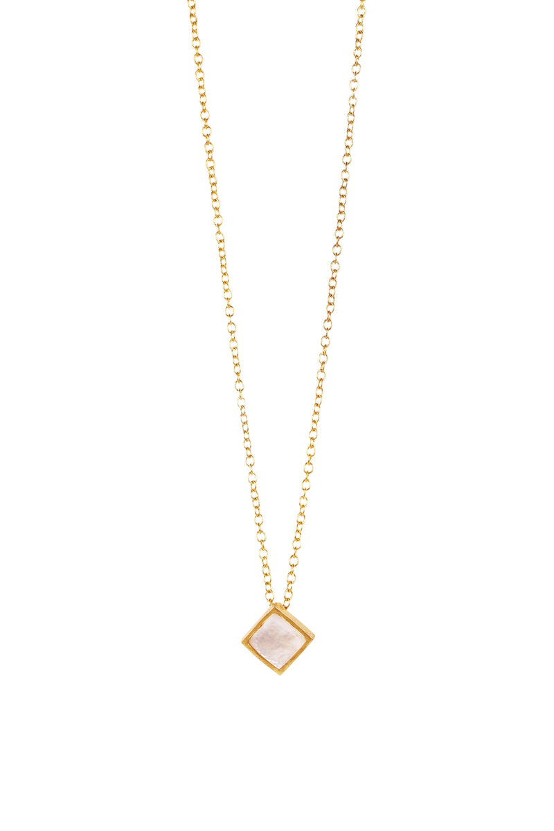 Lavalliere Necklace -  Pearl - Christina Greene LLC