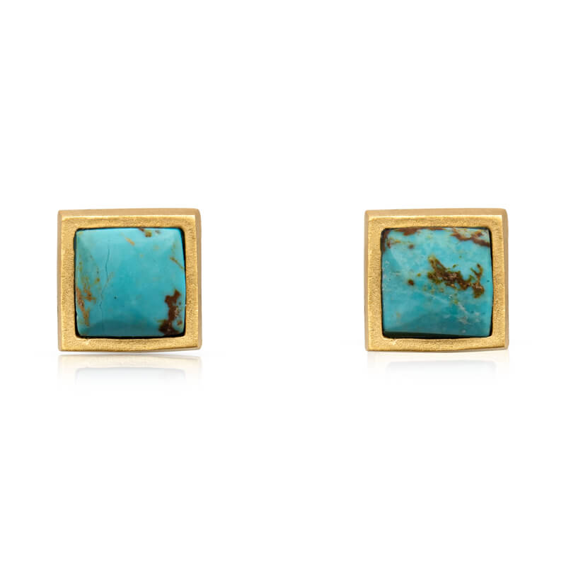 Lavalliere Stud Earring - Turquoise