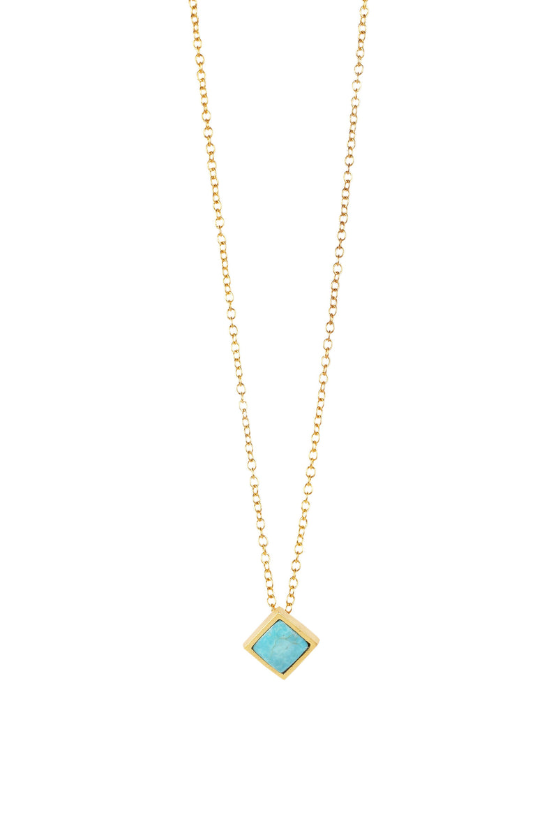 Lavalliere Necklace - Turqouise - Christina Greene LLC