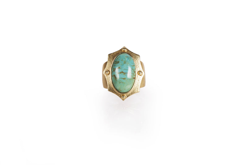Ethos Ring - Turquoise - Christina Greene LLC