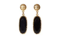 Mini Drop Earrings - Black Onyx - Christina Greene LLC