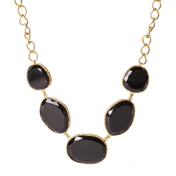 Statement Necklace - Black Onyx - Christina Greene LLC