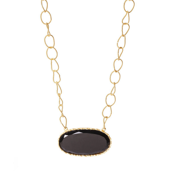 Simple Necklace - Black Onyx - Christina Greene LLC