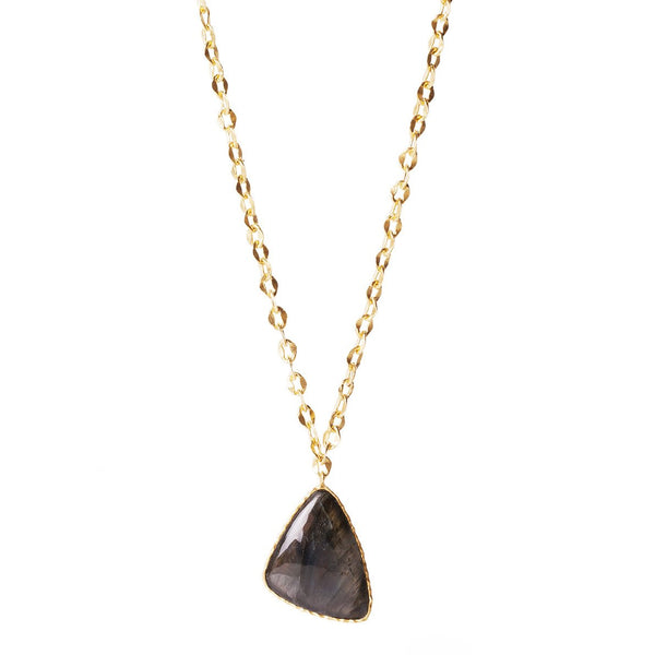 Long Drop Necklace - Labradorite - Christina Greene LLC