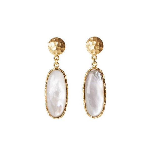 Mini Drop Earrings - Pearl - Christina Greene LLC