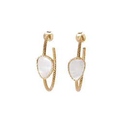 Hoop Earrings - Pearl - Christina Greene LLC