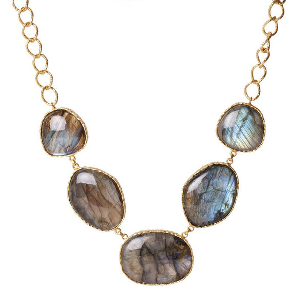 Statement Necklace - Labradorite - Christina Greene LLC