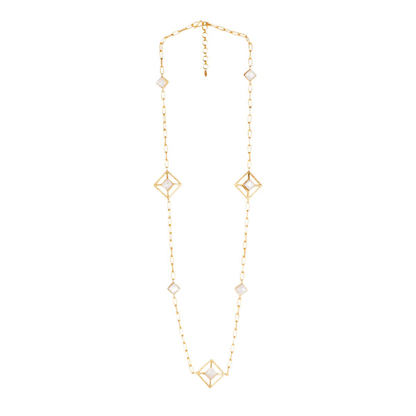 Carina Necklace - Pearl - Christina Greene LLC