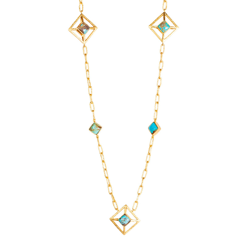 Carina Necklace - Turquoise - Christina Greene LLC