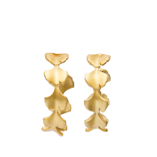 Crown of Ginkgo Hoop Earring - Christina Greene LLC