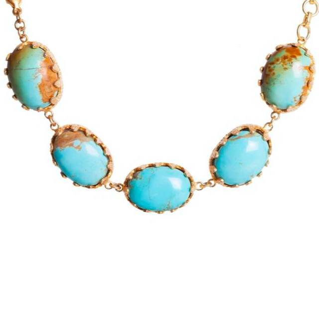 Monica Necklace - Turquoise - Christina Greene LLC