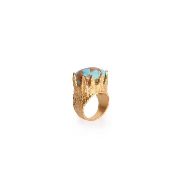 Dorothy Ring - Turquoise - Christina Greene LLC