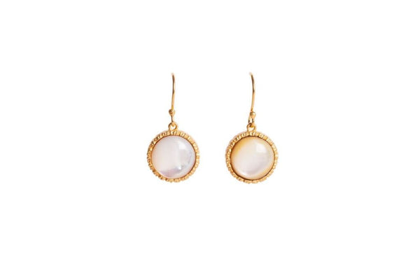Lynn Earrings - Pearl - Christina Greene LLC