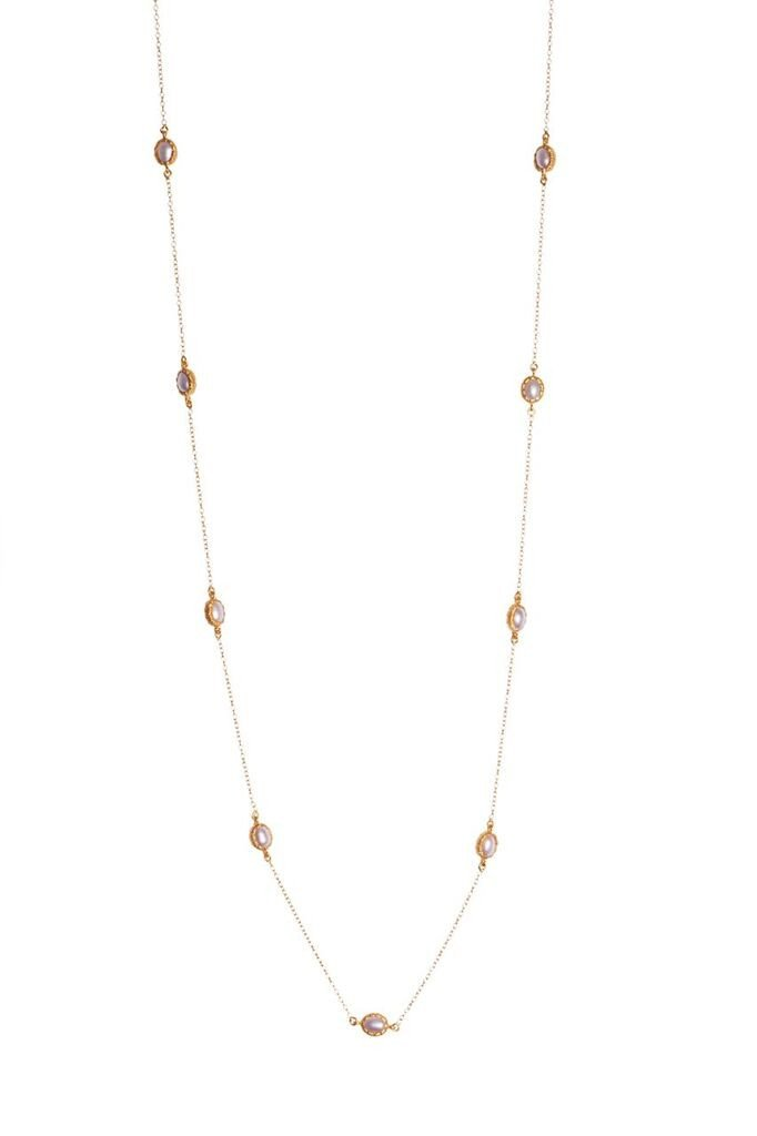 Elizabeth Necklace - Pearl - Christina Greene LLC