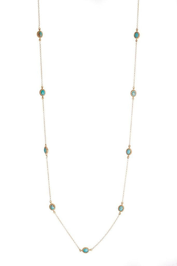 Elizabeth Necklace - Turquoise - Christina Greene LLC