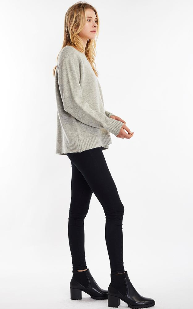 Merino Wool Sweater - Grey - Christina Greene LLC