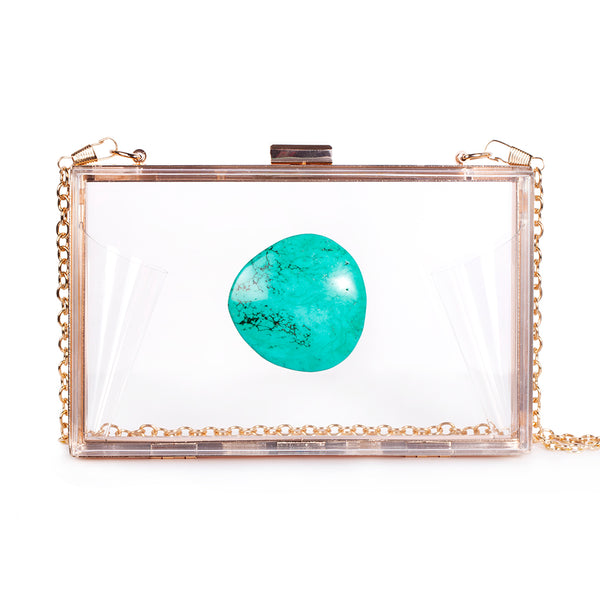 Agate Game Day Clutch - Turquoise - Christina Greene LLC