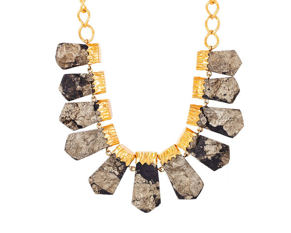 Chunky Necklace - Pyrite