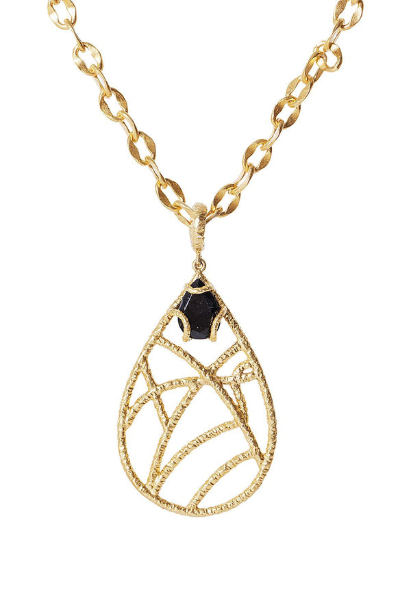 Filmore Pendant Necklace - Black Onyx - Christina Greene LLC