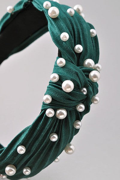 Pearl Headband - Green - Christina Greene LLC