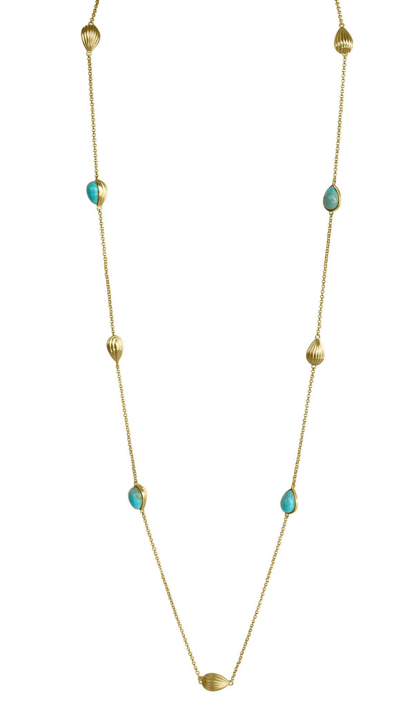 Luxe Layering Necklace - Turquoise