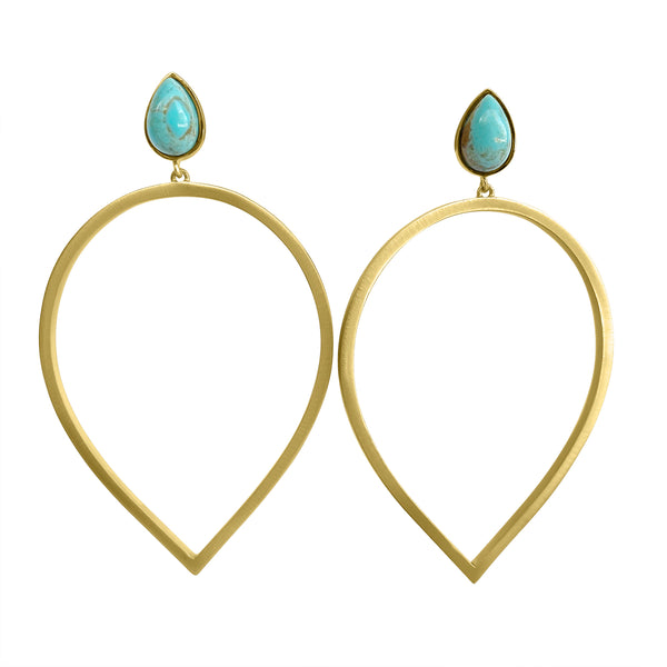 Daybreak Statement Earrings - Turquoise