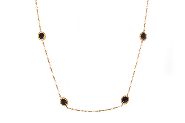 Charlotte Necklace - Black Onyx - Christina Greene LLC