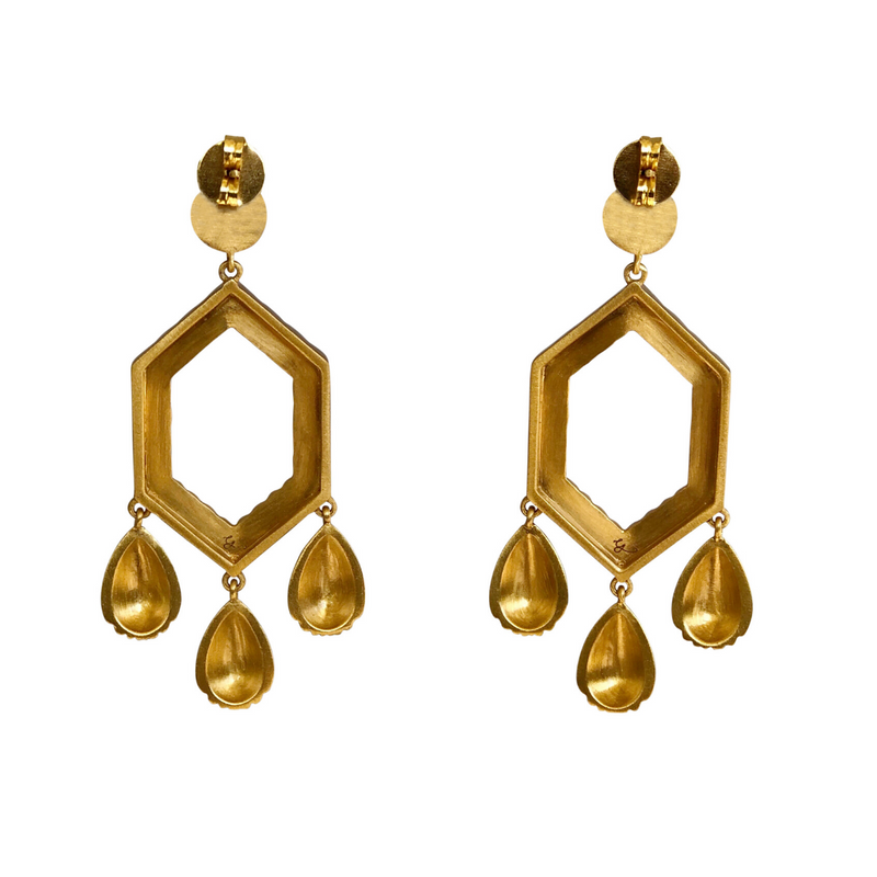 You're a Gem Statement Earrings - Pearl - Christina Greene LLC