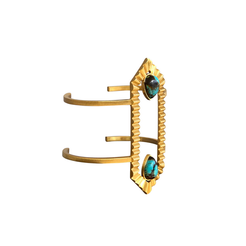 Partner In Shine Cuff - Turquoise - Christina Greene LLC