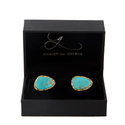 Cufflinks - Turquoise - Christina Greene LLC