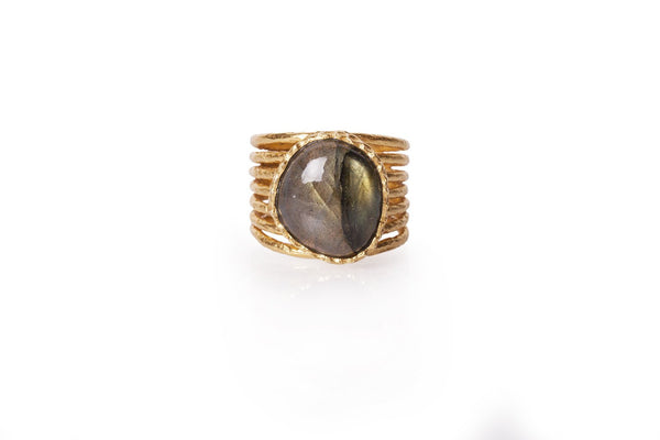Stackable Ring - Labradorite - Christina Greene LLC