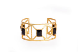 Lennox Cuff - Black Onyx - Christina Greene LLC
