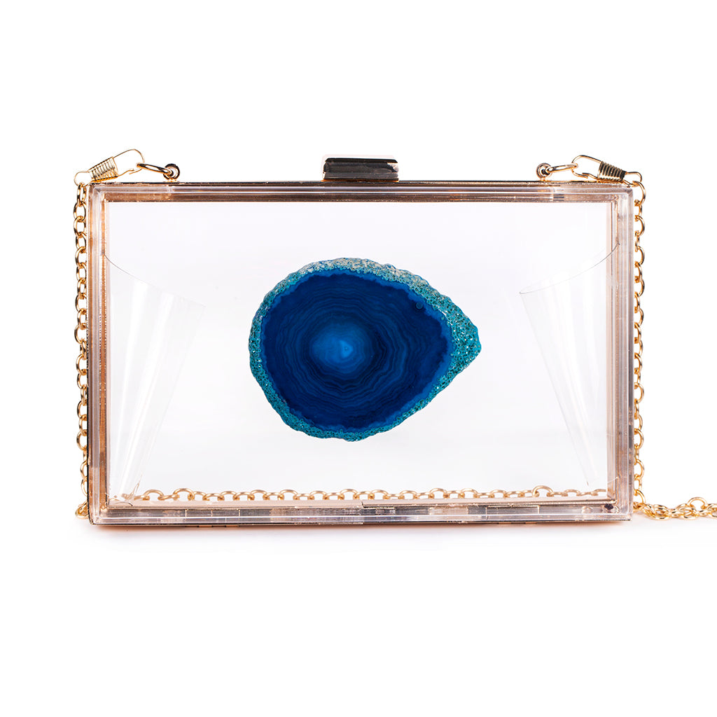 Agate Game Day Clutch - Blue