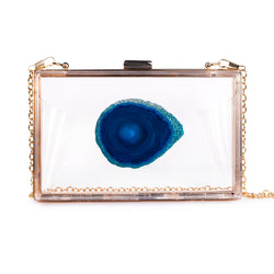 Agate Game Day Clutch - Blue - Christina Greene LLC