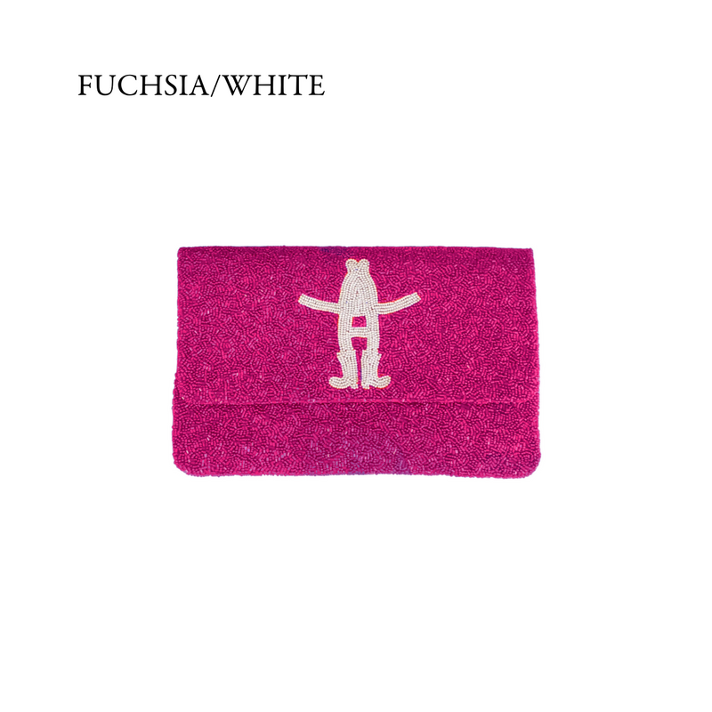 Custom Houston Rodeo Logo Beaded Clutch - Christina Greene LLC