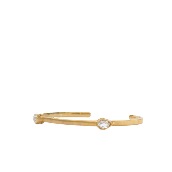 Flower Girl Crystal Bangle - Christina Greene LLC