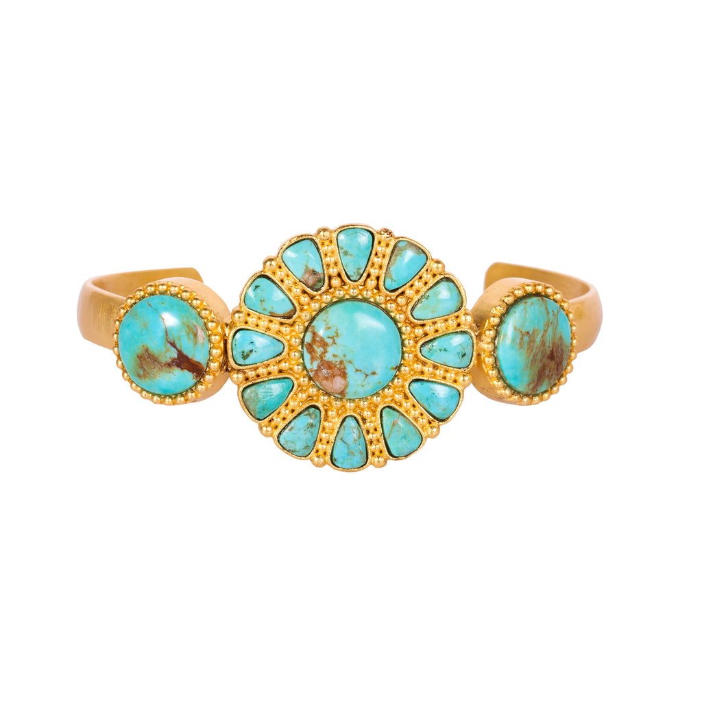 Turquoise Skies Cuff - Christina Greene LLC