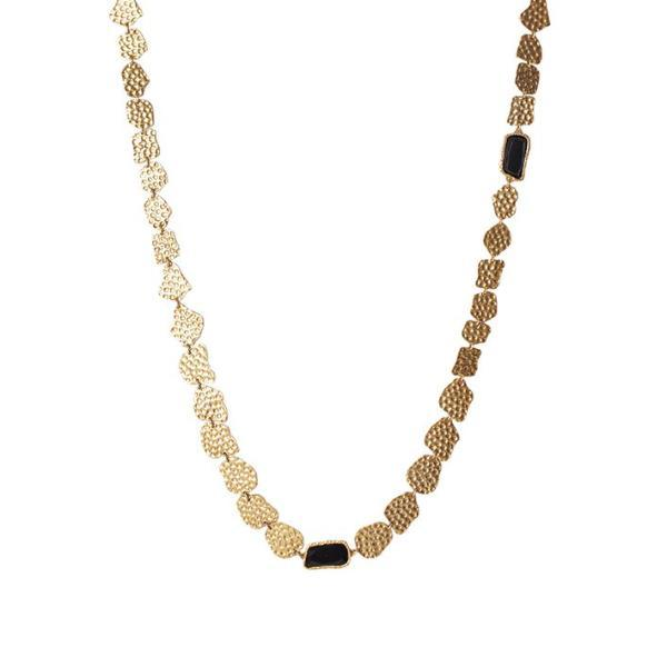 Infinity Necklace - Black Onyx - Christina Greene LLC