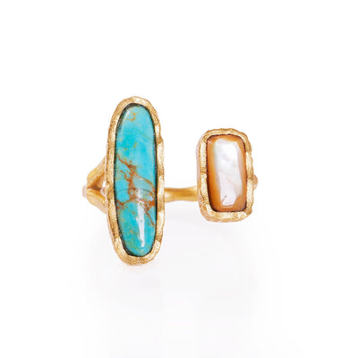 Deco Twin Stone Ring